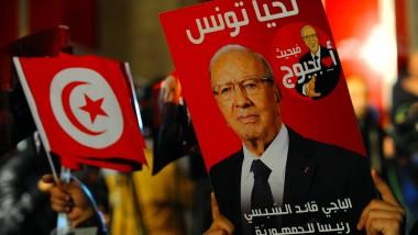 Anhänger von Béji Caid Essebsi am Wahlabend in Tunis