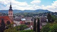 Jetzt Unesco-Welterbe: Blick auf die Innenstadt von Baden-Baden. Links ist die Stiftskirche zu sehen.