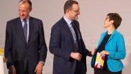 Kontrahenten: Annegret Kramp-Karrenbauer mit Jens Spahn und Friedrich Merz (v.r.)