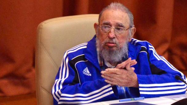 """Fidel Castro: """"Vielleicht eines der letzten Male, dass ich hier spreche"""""""
