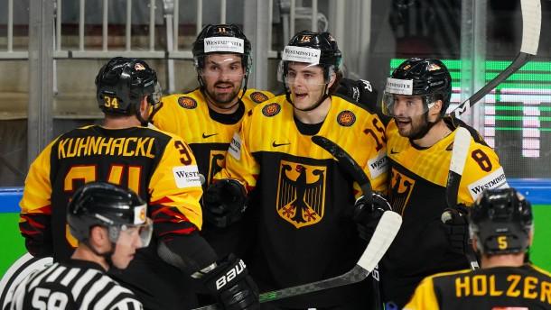 Deutsches Eishockey-Team gewinnt auch gegen Kanada
