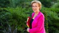 Andrea Leadsom auf dem Weg zu einer Kabinettssitzung