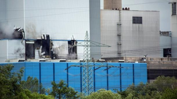 Dampf-Explosion im Kraftwerk Staudinger
