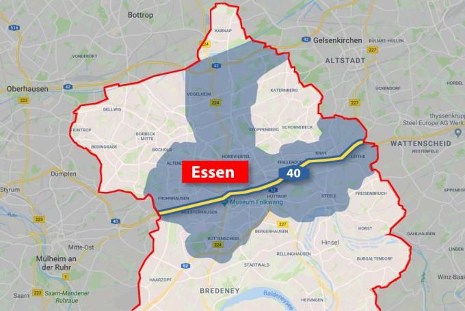 Fahrverbot Stuttgart Karte.Diesel Fahrverbotszone In Essen Und Auf A40