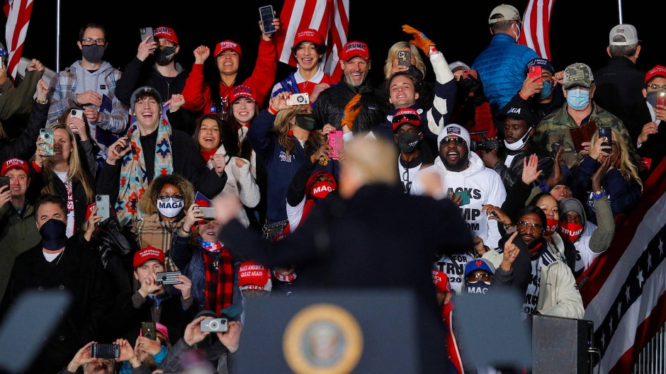 Unterstützer von Donald Trump am 4. Januar in Dalton