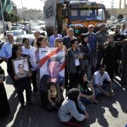 """Protest in Beirut: Angehörige libanesischer Soldaten, die in den Händen der Nusra-Front und der Terrormiliz """"Islamischer Staat"""" geraten sind, fordern Aktionen zu deren Befreiung"""