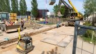 Bauarbeiten für Flüchtlingsquartier gehen weiter