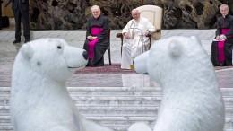 Eisbären bei Papstaudienz