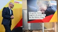 Bisschen Tauber, viel Merkel: ein neues Plakat der CDU