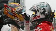 Nur für einen von beiden lief es während des Trainings gut: Lewis Hamilton (links) und Sebastian Vettel (rechts)