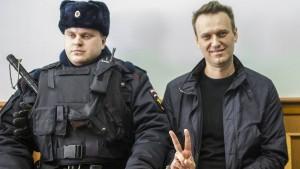 Nawalnyj darf bei Präsidentenwahl nicht antreten