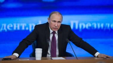 """Der russische Präsident Wladimir Putin: """"Natürlicher Wunsch auf Selbsterhaltung als Nation, als Zivilisation, als Staat"""""""