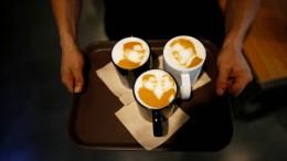 Kaffee mit Kim-Schaum in Südkorea
