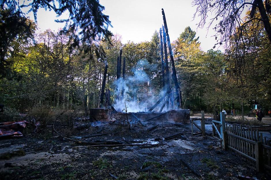 Schutt und Asche: die Ruine des Goetheturms in Sachsenhausen