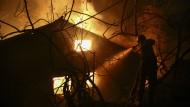 Großbrand wütet im Nordosten Athens