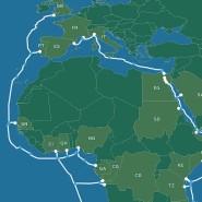 Eine Karte zeigt, wo das Facebook-Kabel verlaufen soll.