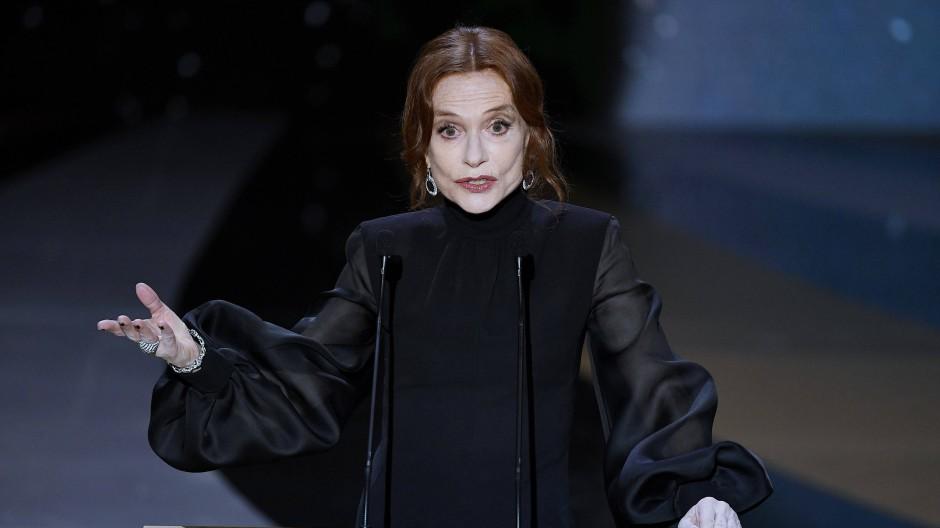 Die französische Schauspielerin Isabelle Huppert bei der 46. Verleihung des Filmpreises César