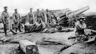 Japanische Soldaten in Qingdao / Tsingtao, 1914