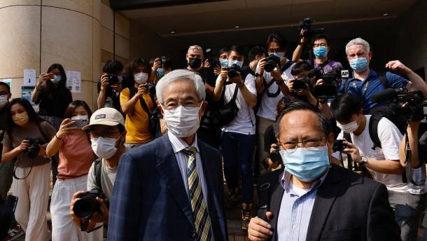 Sieben Hongkonger Aktivisten von Gericht für schuldig befunden