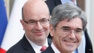 Der Siemens-Chef zu Gast bei Präsident Hollande