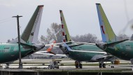 737 Max 8 vor Boeing-Werken in Amerika