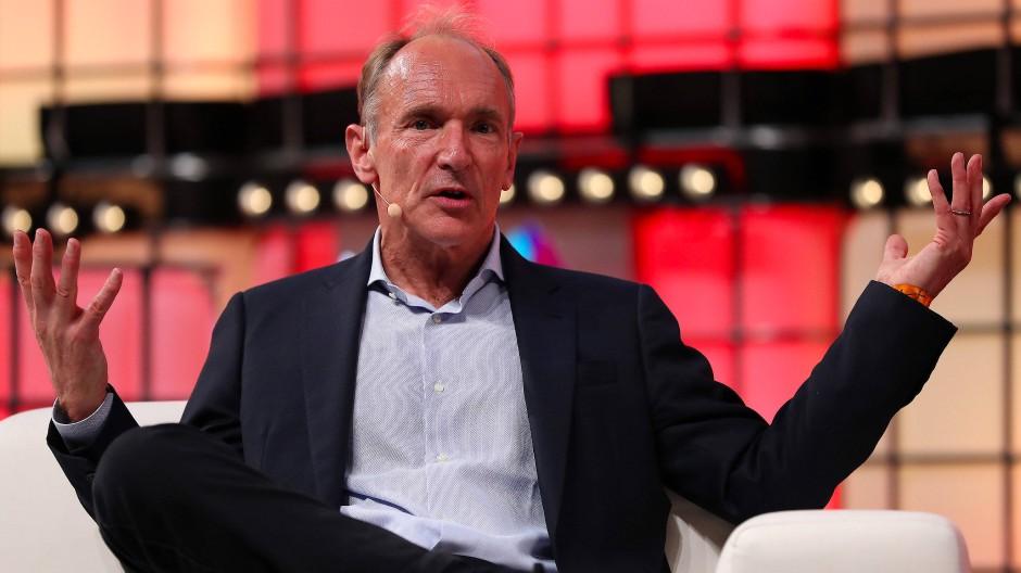 Tim Berners-Lee, der Erfinder des World Wide Webs, im November 2018 in Portugal