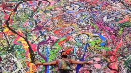 Weltgrößtes Gemälde für den guten Zweck