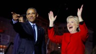 Da waren sie noch hoffnungsfroh: Barack Obama und Hillary Clinton im November 2016
