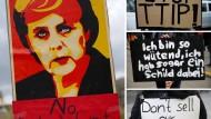 Zehntausende demonstrieren vor Obama-Besuch