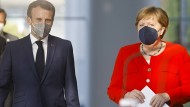 Frankreichs Präsident Emmanuel Macron und die deutsche Bundeskanzlerin Angela Merkel