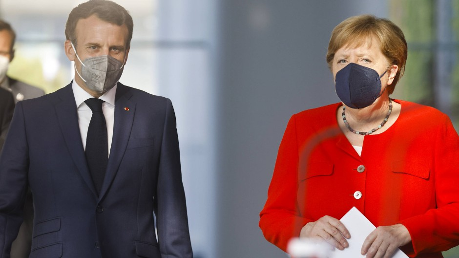 Sind sich in vielem einig: Frankreichs Präsident Emmanuel Macron und die deutsche Bundeskanzlerin Angela Merkel