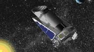 Entwurfszeichnung des Weltraumteleskops Kepler