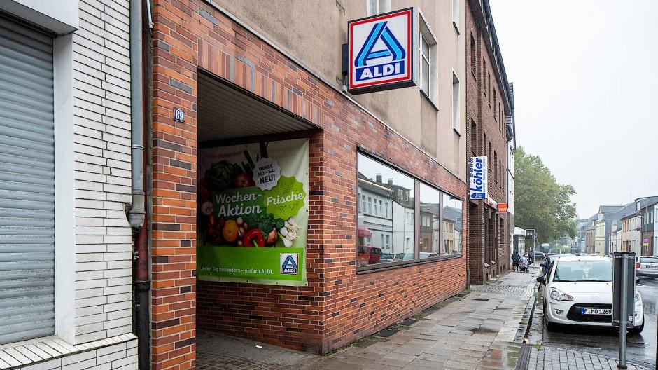 Die Stammfiliale von Aldi Nord in der Huestraße in Essen