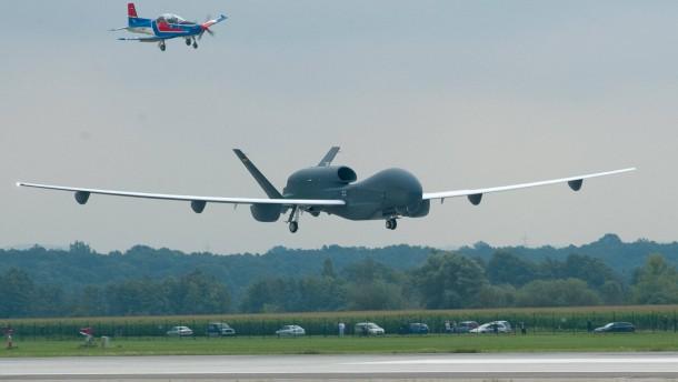 Unbemanntes Flugzeug Euro Hawk in Manching