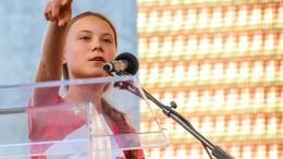 Greta Thunberg beim globalen Klimastreik in New York