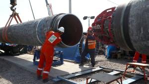 Der Streit um die Gasleitung spitzt sich zu