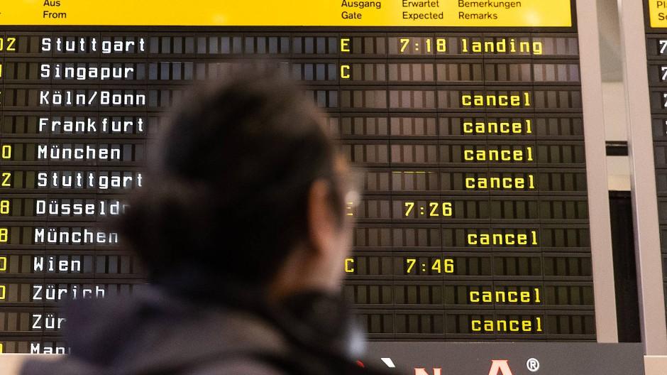 Flugreisende müssen sich weiter gedulden