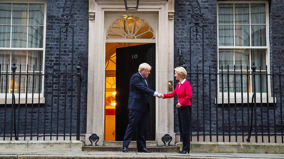 Nett zur Begrüßung, schlecht zum Verträge schließen: Boris Johnson und Ursula von der Leyen bei einem Treffen in der Downing Street 10