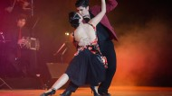 Die Tangotänzer Ariadna Naveira und Fernando Sanchez in Lissabon.