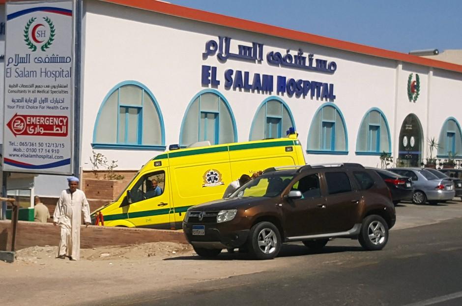 Das El Salam Krankenhaus in Hurghada, in welches die Überlebenden der Messerattacke gebracht wurden.