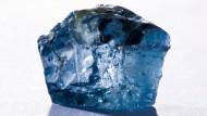 Hart: Der in der südafrikanischen Cullinan-Mine entdeckte blaue Diamant hat 122,5 Karat