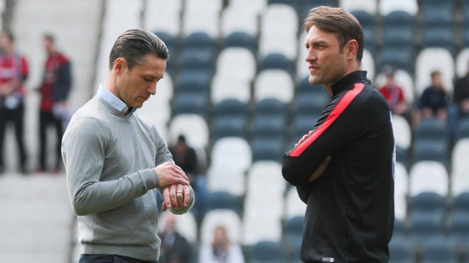 Doppel-Spitze: Nico Kovac und Bruder und Co-Trainer Robert (rechts)