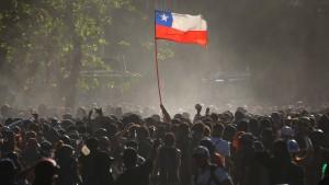 Liberale Abendröte in Südamerika