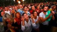 Viele Katalanen reagieren geschockt auf die Rede ihres Regionalpräsidenten Carles Puigdemont.