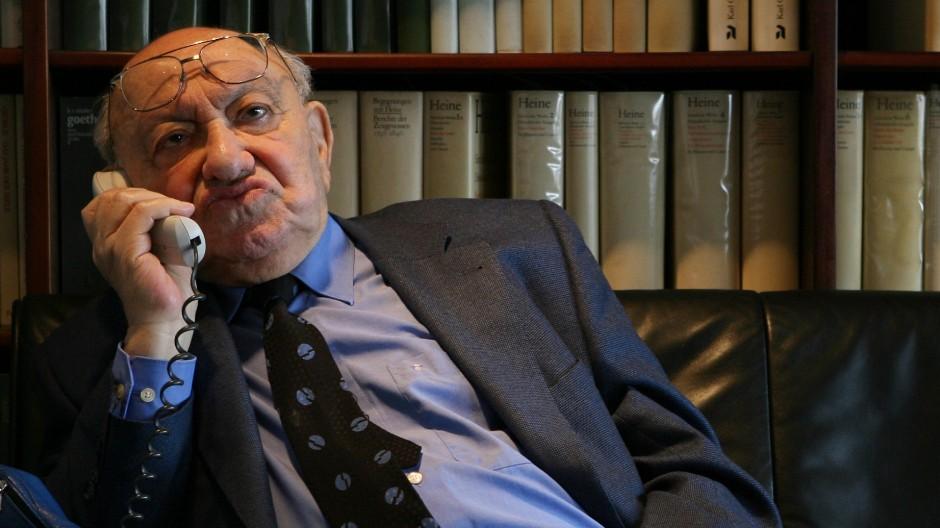 Redliche Rücksichtslosigkeit kann sich ein Literaturkritiker wie Marcel Reich-Ranicki (1920 bis 2013) leisten.