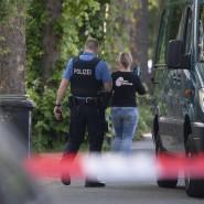 Tatort: Unser Bild zeigt das Wohngebiet in Darmstadt-Kranichstein nach der Schießerei im Mai; einer der Verdächtigen hat sich nun in der U-Haft erhängt