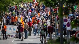 Wieder Anti-Corona-Demo in Stuttgart