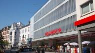 Trägt zur Belebung Frankfurt-Bockenheims bei: Woolworth-Filiale an der Leipziger Straße