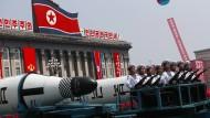 Nordkorea zeigt am Tag der Sonne neue Waffen