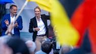 Die AfD-Spitzenkandidaten Alice Weidel und Tino Chrupalla im August in Schwerin.